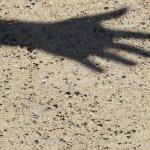 left hand shadow